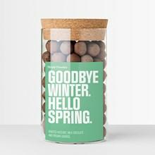 Simply Chocolate Goodbye winter - hello spring krukke