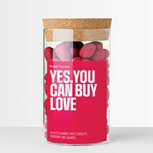 Simply Chocolate Yes You Can Buy Love Krukke