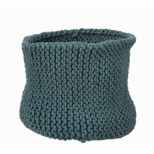 Ferm Living Knitted Basket - Petrol - Large