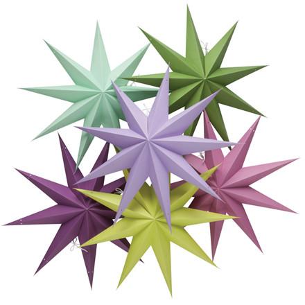 Stjerne lampe i forskellige farver