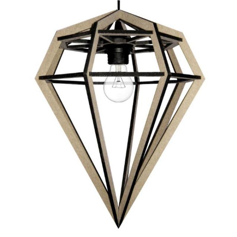 Tvåfota Designduo Döden lampe Diamant lampe natur