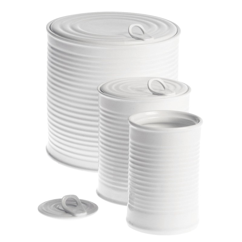 Opbevaringskrukker i porcelæn