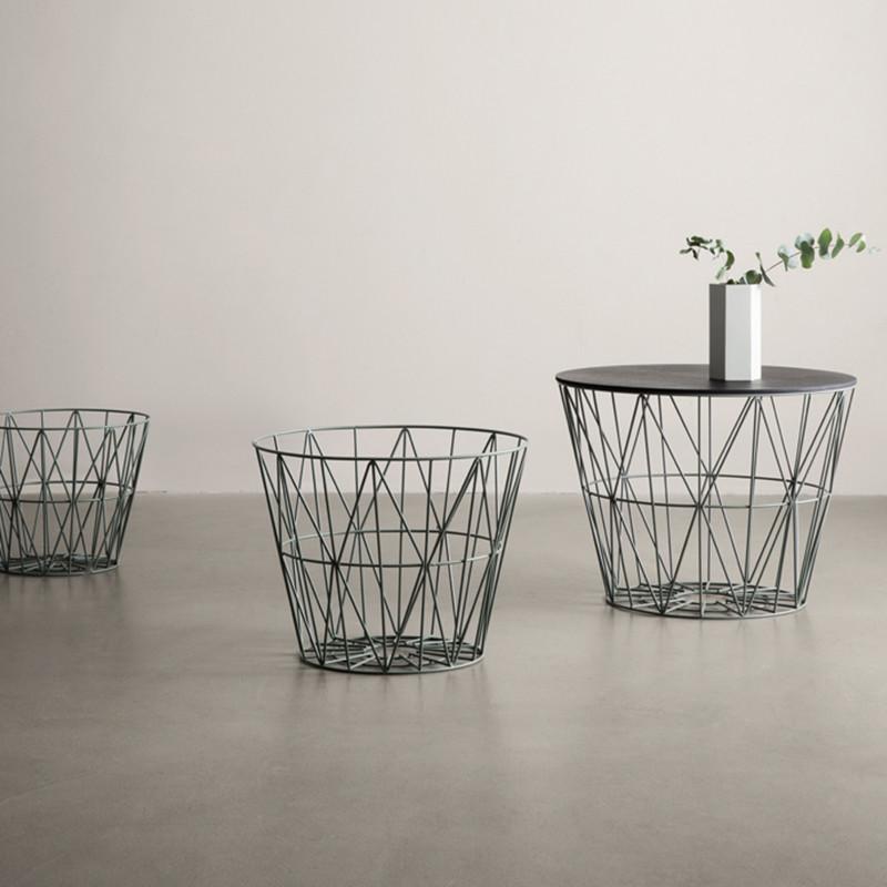 ferm living wire basket st vet gr n. Black Bedroom Furniture Sets. Home Design Ideas