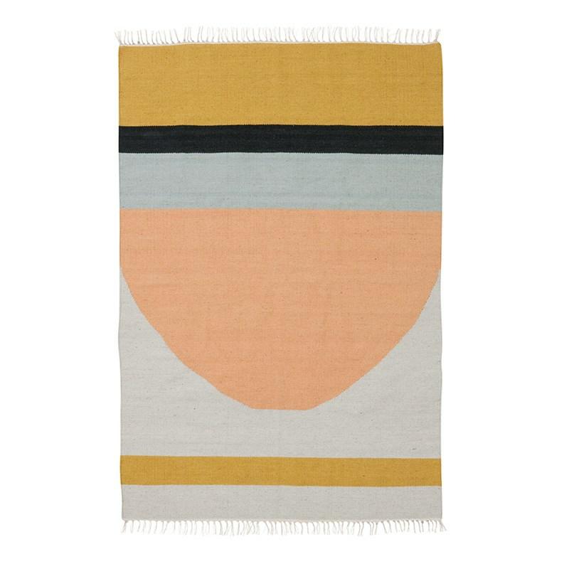ferm living kelim rug t ppe semicircle large. Black Bedroom Furniture Sets. Home Design Ideas