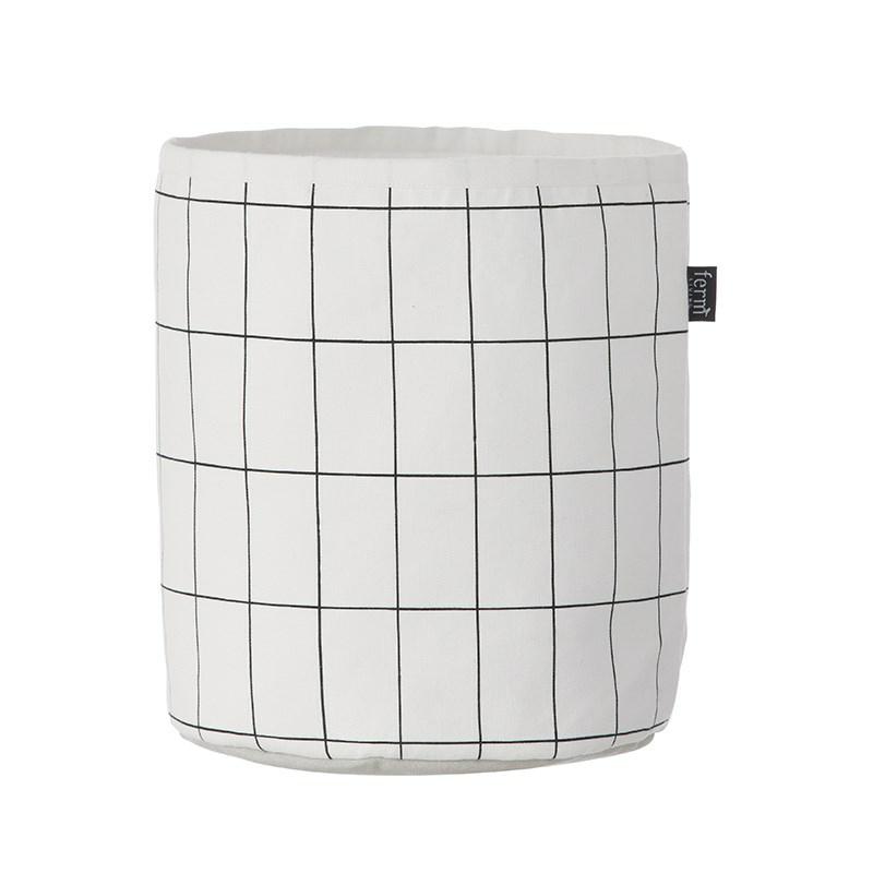 ferm living kurv grid flot grafisk opbevaring. Black Bedroom Furniture Sets. Home Design Ideas