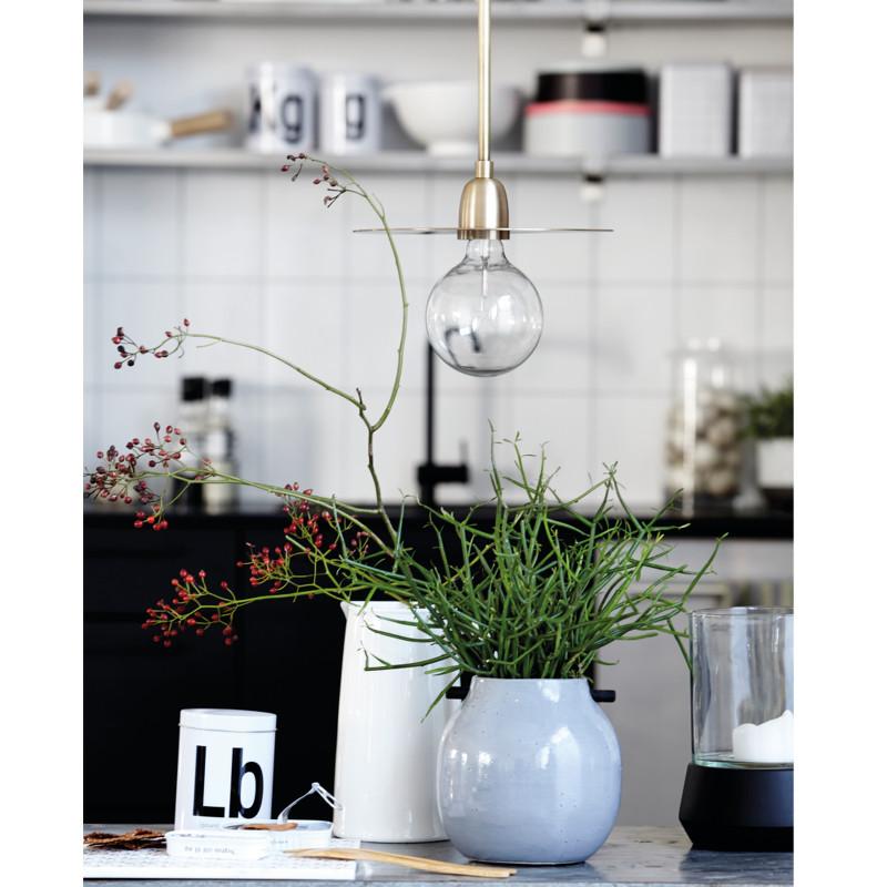 house doctor vase woody gr n lille. Black Bedroom Furniture Sets. Home Design Ideas