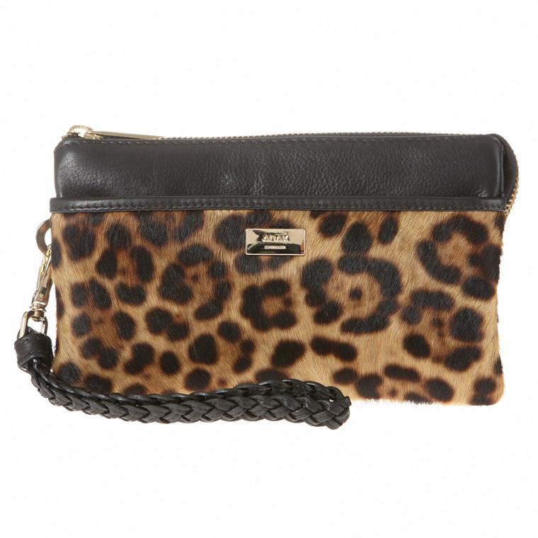 Adax Serini leopard clutch