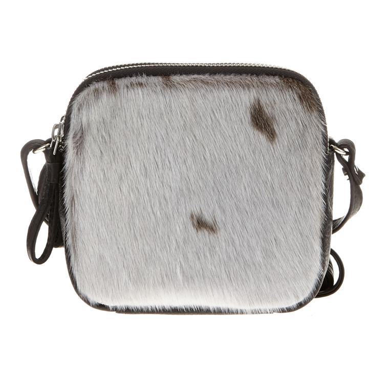 Belsac By Kopenhagen Fur skind/sæl skuldertaske med 2 lynlås