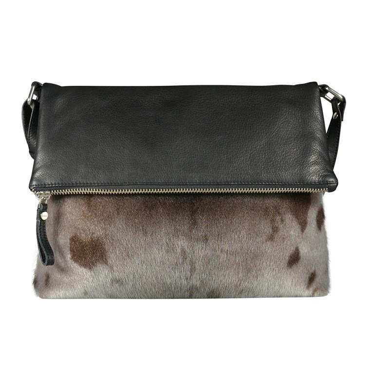 Belsac By Kopenhagen Fur skind/sæl skuldertaske med klap