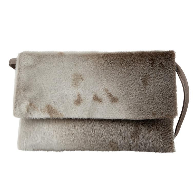 Belsac x Kopenhagen Fur kuverttaske m/sæl og lang rem