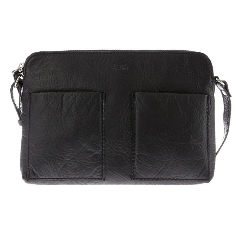 Belsac taske i skind m/forlommer