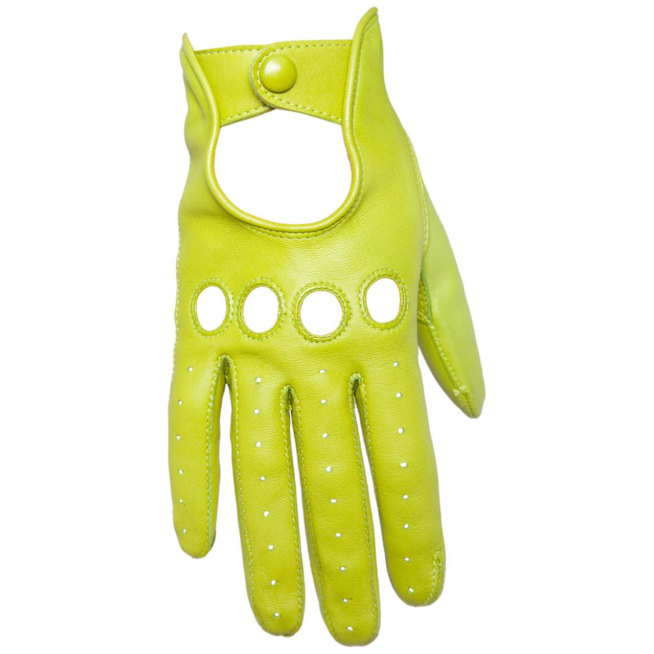 have grus sort læder handsker dame
