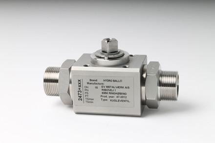 Kugleventil (rustfri) serie RR64 IR forberedt for aktuator