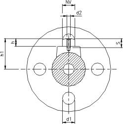 Kugleventil med drejeflange (PN 100)