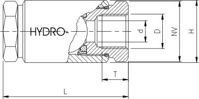 Kontraventil med indv. rørgevind (IR)