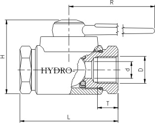 RF kugleventil med tilslutning til svære rør (SR)