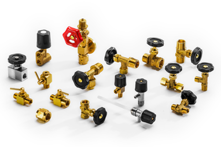 Needle valves, mini valves, lance valves, shut-off cocks