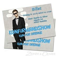 Billet Konfirmandshow Roskilde 11.02.2015  00