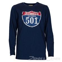 Levis N91045A T-shirt MARINE
