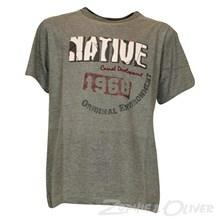 1402-150 Native Christian T-shirt GRÅ