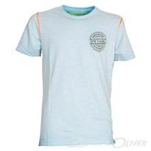 B-HS15-TSR16 Petrol Tee round neck T-shirt BLÅ