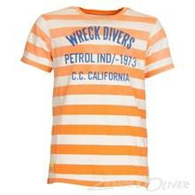 B-HS15-TSR20 Petrol Tee round neck T-shirt  ORANGE