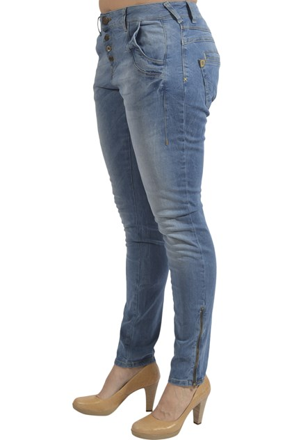 Pulz Melina loose jeans, light blue