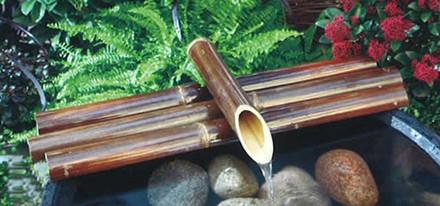 Bambus overligger mørk 80 cm.