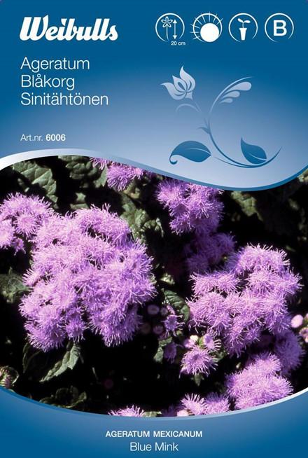 Blåkvast - Ageratum Mexicanum - Blue Mink  - Frø (W6006)