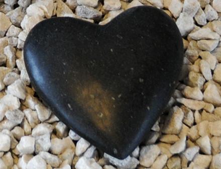 Sort granit pyntehjerte ( 813)