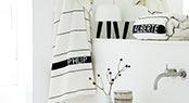Navnefrotté. Håndklæder med indvævet navn, efter eget valg