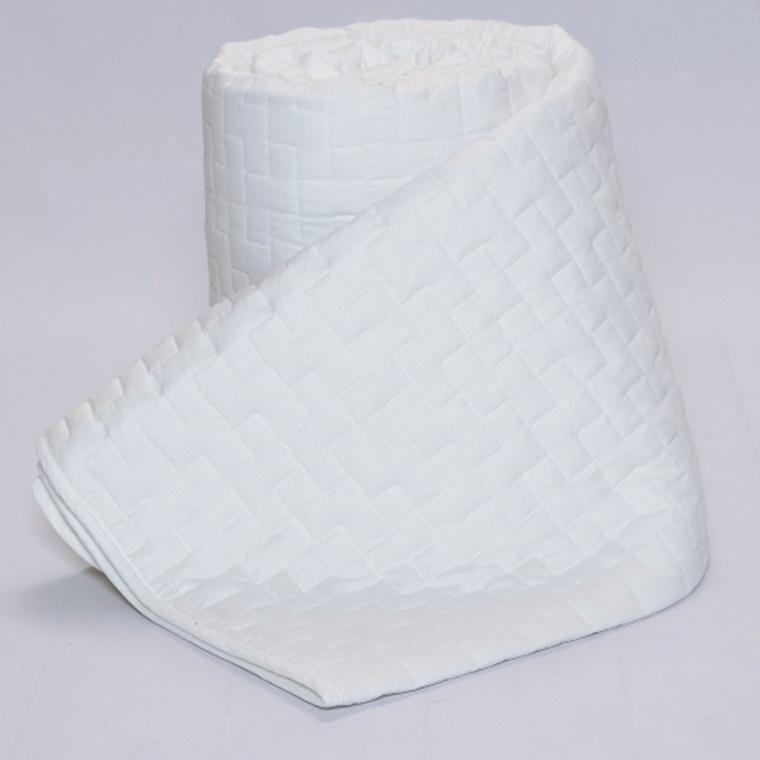 Panther sengetæppe hvid 260x260