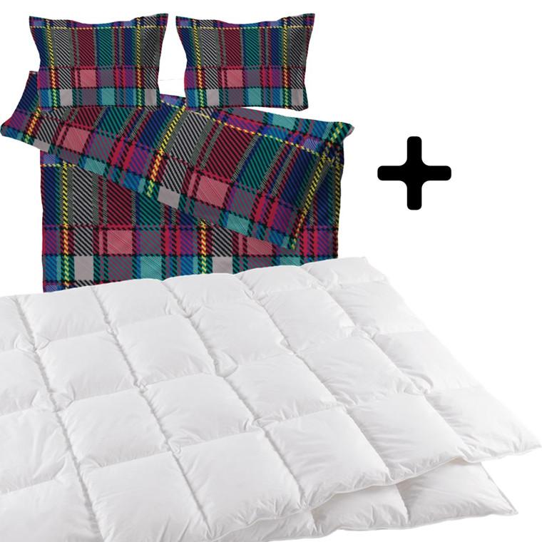 Dobbeltdyne incl. woven cubes sengetøj 200x220