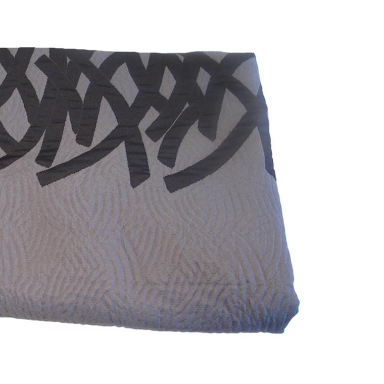 Only sengetæppe sort/grå 280x260