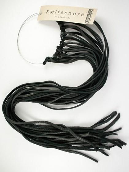 Læderbæltesnører, sort