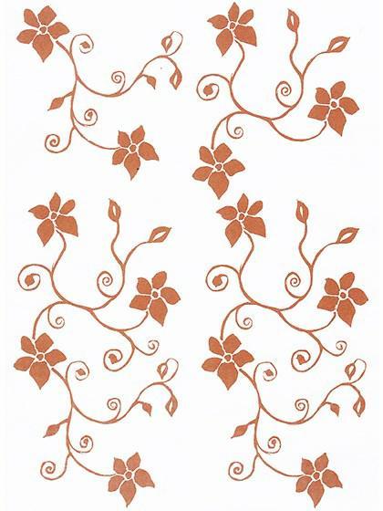 Printark - Blomst, kobber