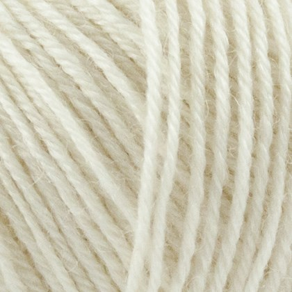 Nettle Sock Yarn, råhvid
