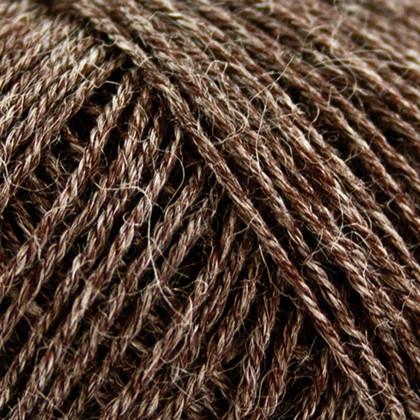 Nettle Sock Yarn, choko brun