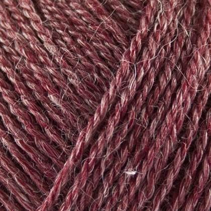 No.3 Organic Wool+Nettles, mørk rød
