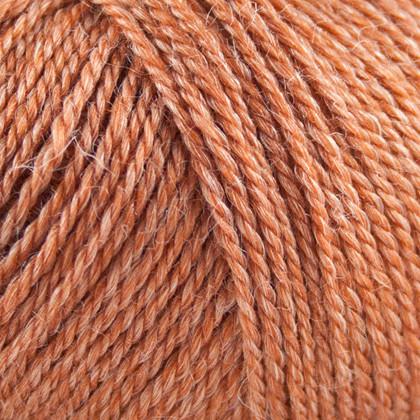 No.3 Organic Wool+Nettles, brændt orange