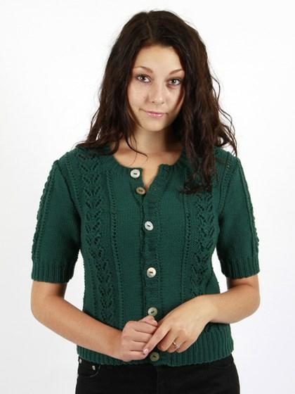 Kort trøje med hulmønster