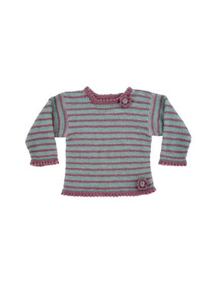 Sweater med striber (børn)