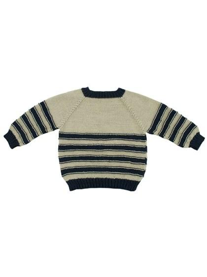Oppefra og ned trøje med striber (børn)