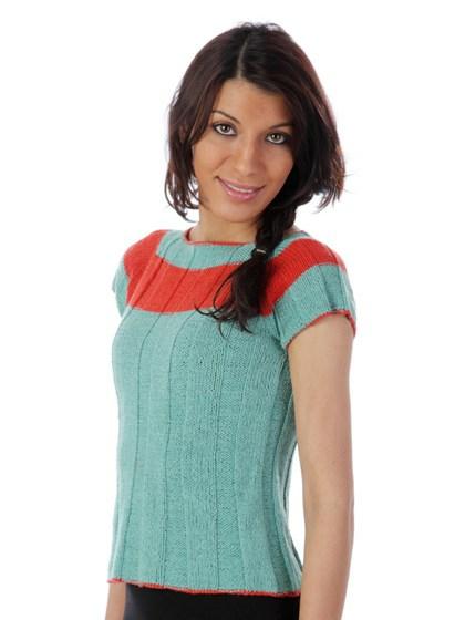 T-shirt med bred stribe