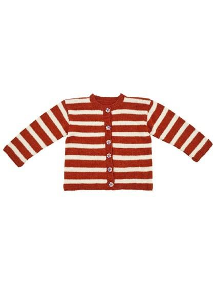 Børnecardigan med brede striber (børn)
