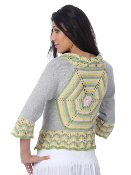 Stribet hexagon cardi