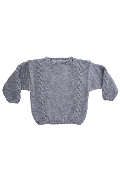 Sweater med snoninger (børn)