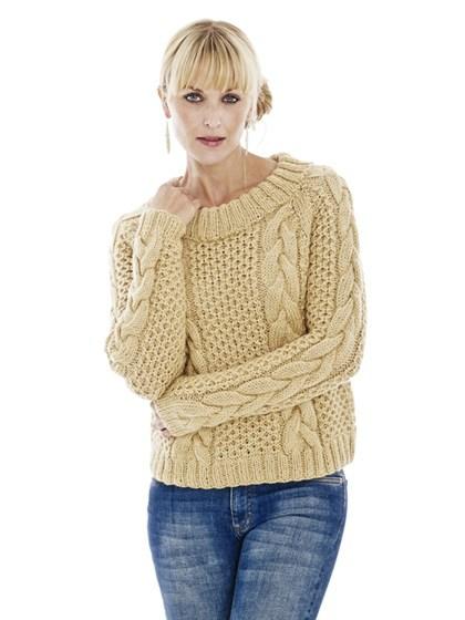 Sweater med mega snoning