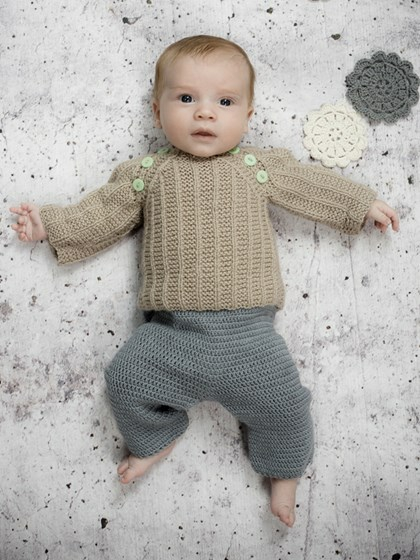 hæklet babytrøje gratis opskrift