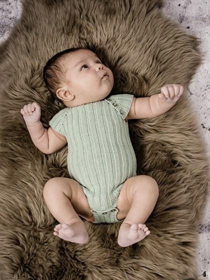 Baby bodystocking i rib (baby)